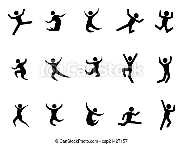 abstract jumping figures - csp21427157