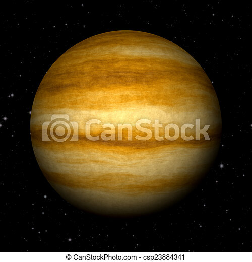 Abstract Jupiter planet generated texture background - csp23884341