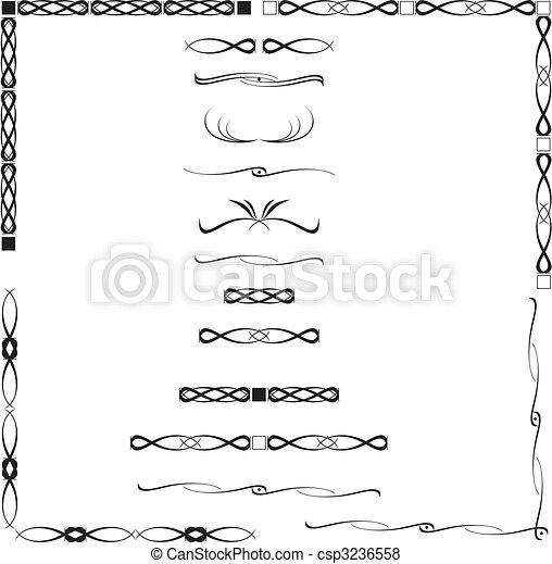abstract, kalligrafie - csp3236558