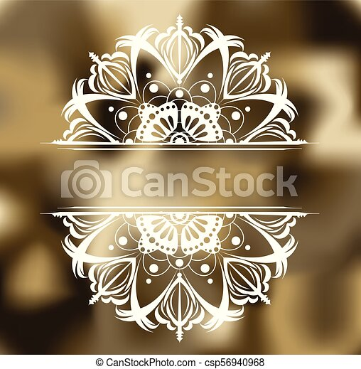 Abstract khaki background with pattern. - csp56940968