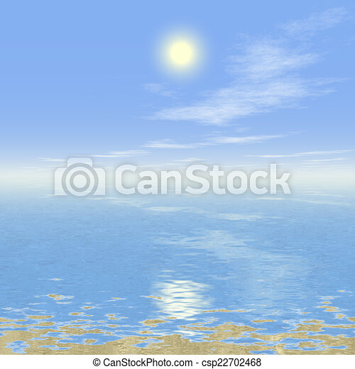 Abstract landscape generated hires background - csp22702468