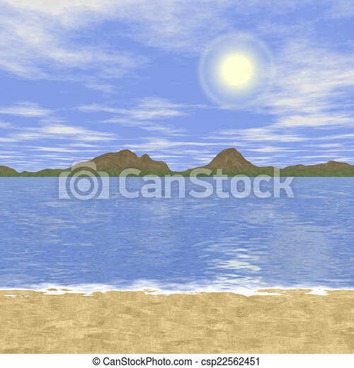 Abstract landscape generated hires background - csp22562451