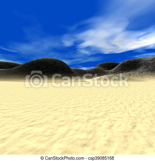 Abstract landscape with hills and sand - csp39085168