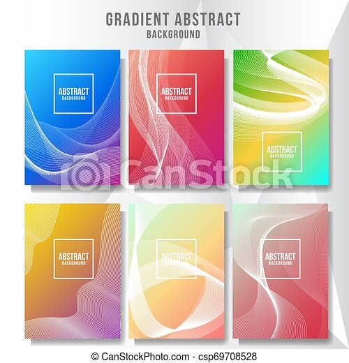 Abstract layout cover background collection - csp69708528