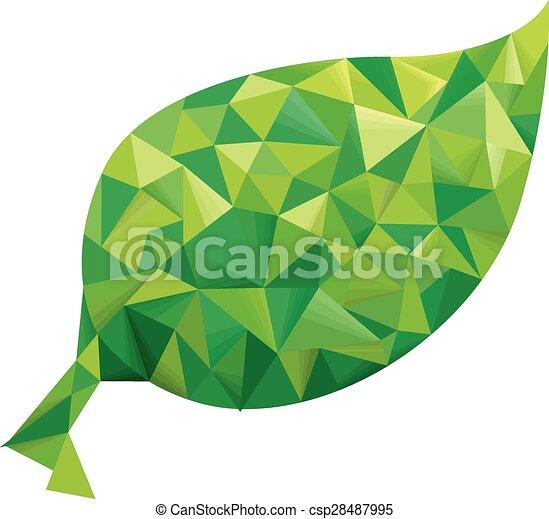 abstract leaf geometric design csp28487995