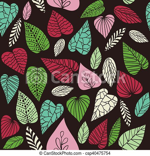 Abstract leaves background. - csp40475754