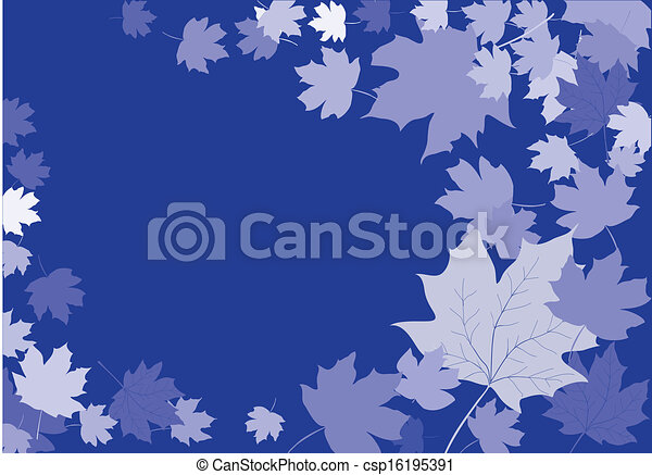 abstract leaves background - csp16195391