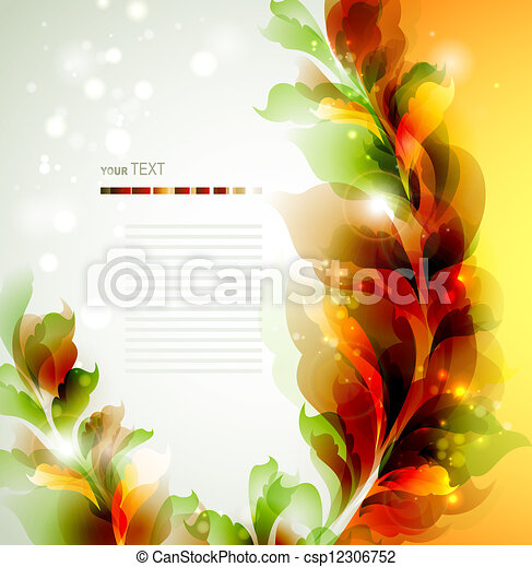 abstract leaves  - csp12306752