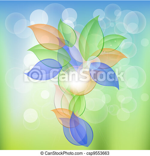 Abstract Leaves Concept - csp9553663