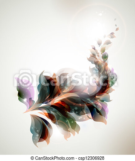 abstract leaves  - csp12306928