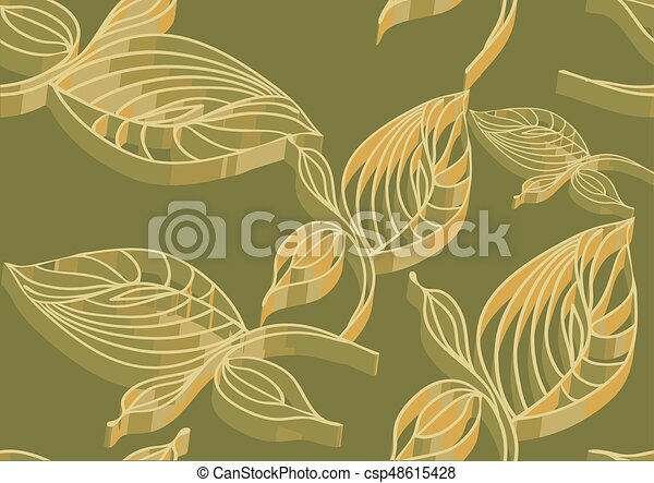 Abstract leaves - csp48615428