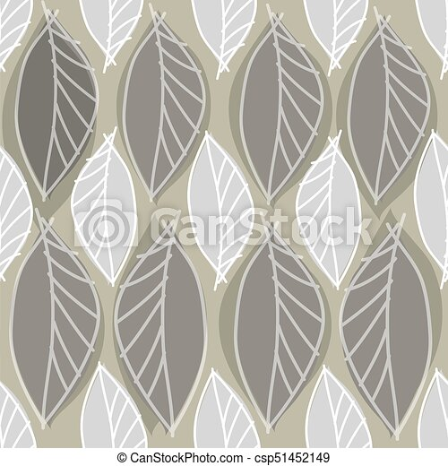 abstract leaves pattern background - csp51452149