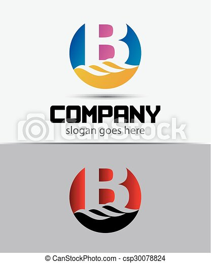 Abstract Letter b Icon - csp30078824
