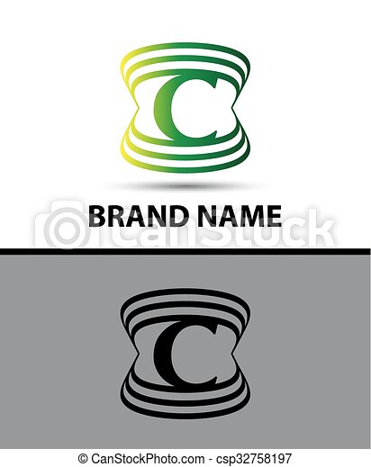 abstract letter c logo design template