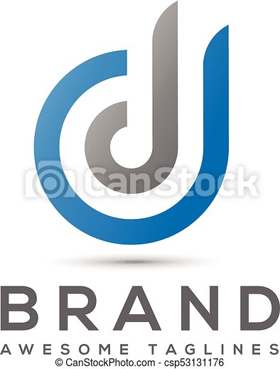 Abstract letter d logo design template elements. abstract letter dd ...