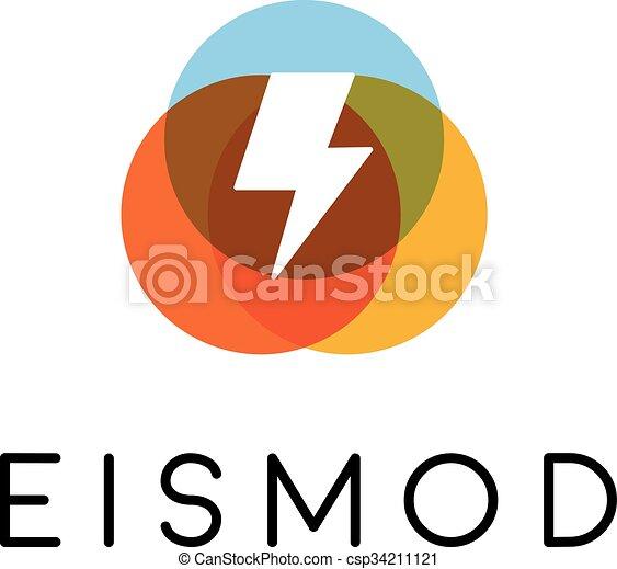Abstract Letter Flash Logo Design Energy Creative Symbol Universal