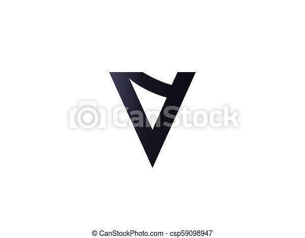 abstract letter v logo design template vector illustration