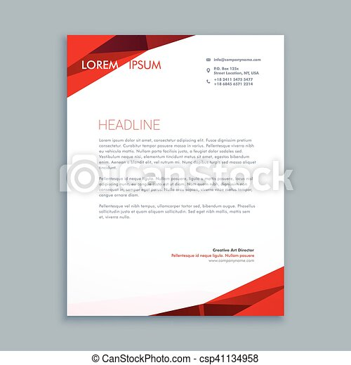 Abstract letterhead template abstract letterhead template csp41134958 thecheapjerseys Image collections