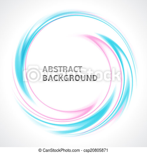 Abstract light blue and pink swirl circle bright background - csp20805871