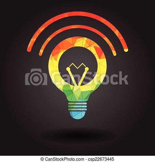 Abstract light bulb illustration - csp22673445