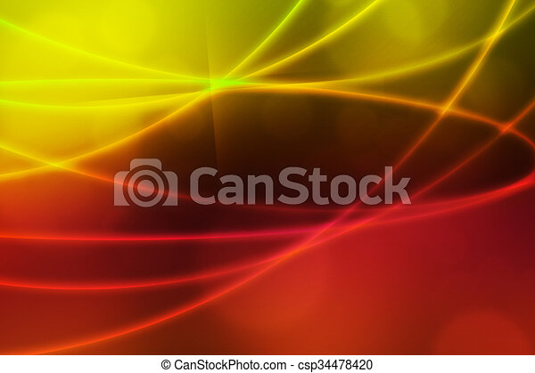 Abstract Light Waves Backdrop - csp34478420