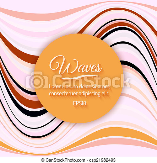 Abstract Light Waves Vector Background - csp21982493