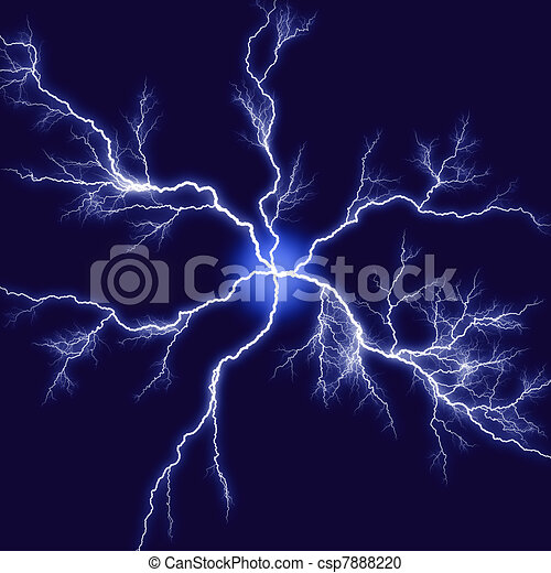 abstract lightning illustration over blackblue background