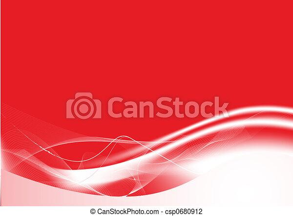 abstract, lijnen, rode achtergrond - csp0680912