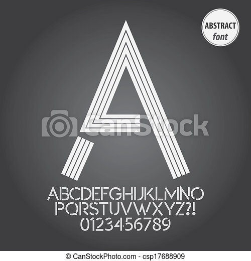 Abstract Line Alphabet and Digit Vector - csp17688909