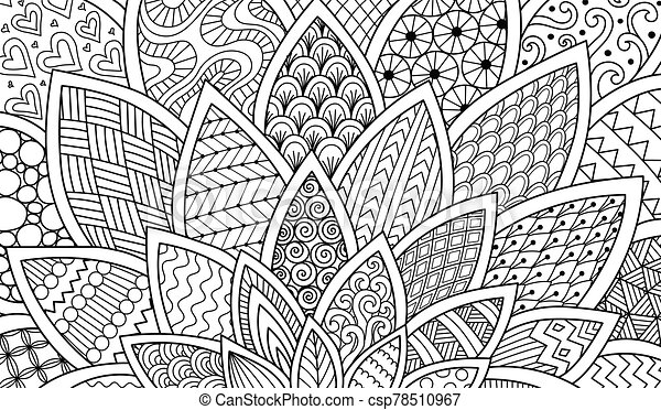 Abstract Line Art For Background Print Adult Coloring Book Coloring Page Engraving And So On Vector Illustrations Canstock