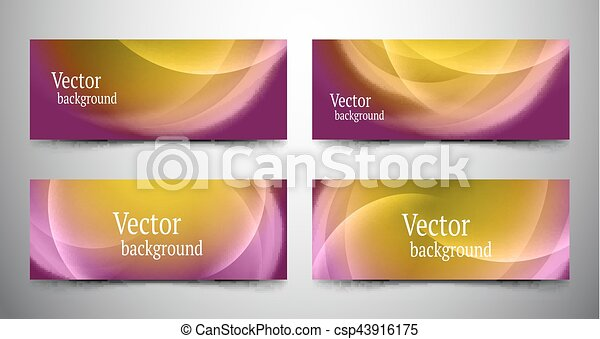 abstract line banner set - csp43916175