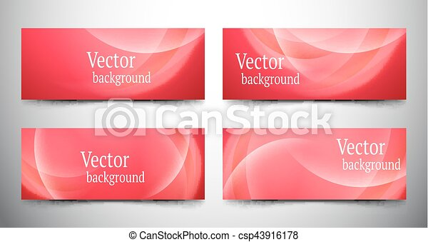 abstract line banner set - csp43916178