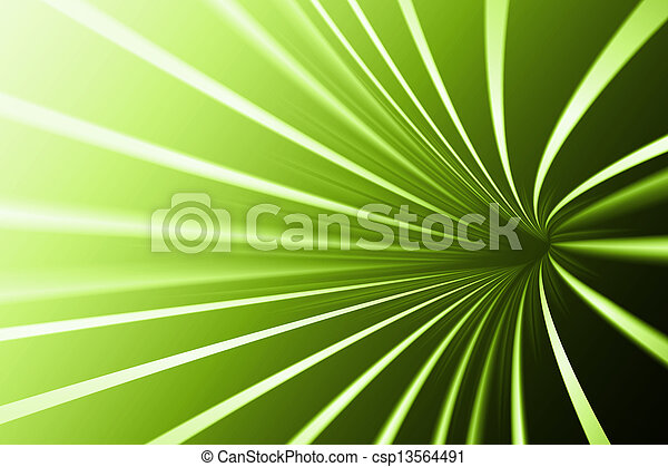 Abstract line green background - csp13564491