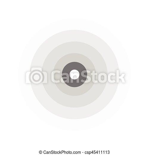 abstract line ripple emblem. Radar, sound or vibration icon. Flat design. - csp45411113