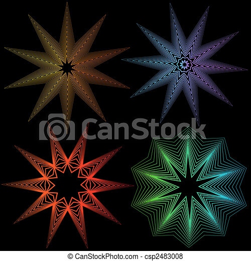 abstract line set star - csp2483008