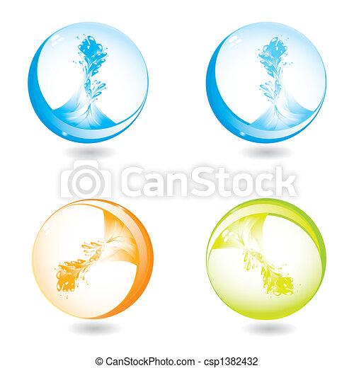 abstract liquid splash - csp1382432