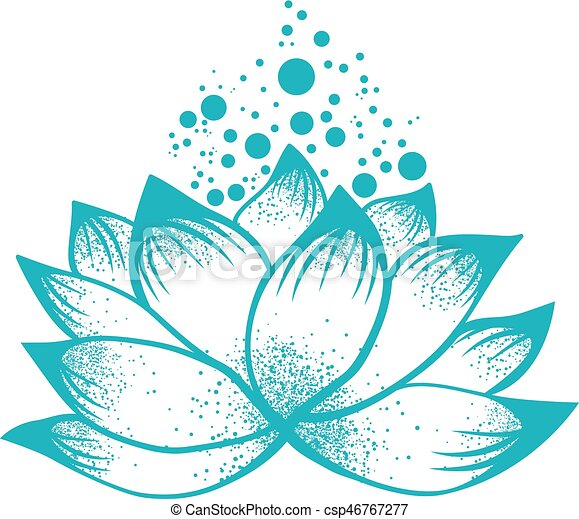 Abstract Logo Design Of Lotus Flower Illustration Of Abstract