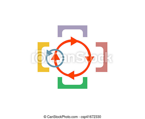 Abstract logo design template. Science technology, Teamwork, Social Network, Community. - csp41672330