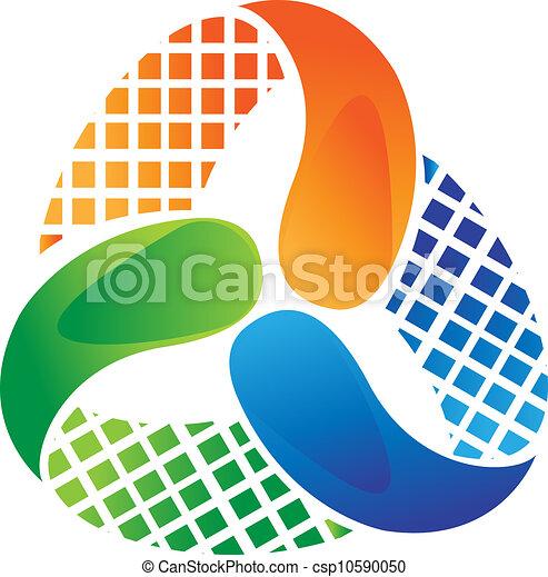 Abstract logo design vector stock - csp10590050