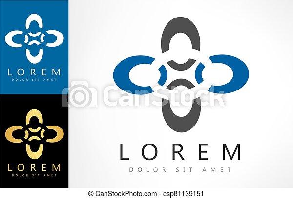 abstract logo vector design - csp81139151