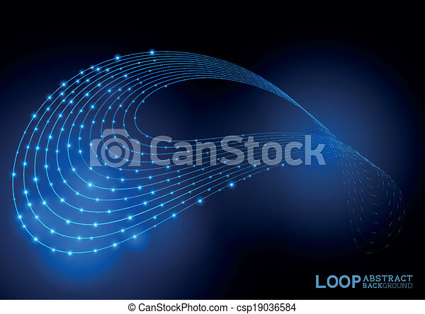 Abstract Loop Background - csp19036584