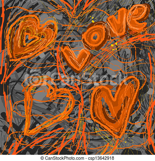 Abstract Love Painting