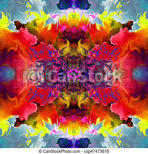 abstract magic colorfull splashes background - csp47473618