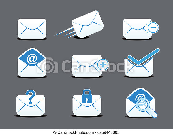 abstract mail icon set - csp9443805