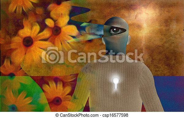 Abstract man - csp16577598