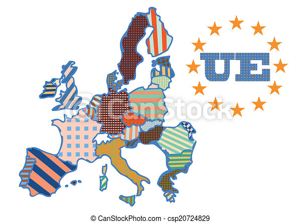 abstract map of European Union - csp20724829