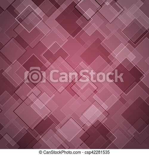 Abstract maroon background with rhombus - csp42281535