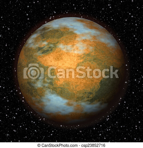 Abstract Mars planet generated texture background - csp23852716