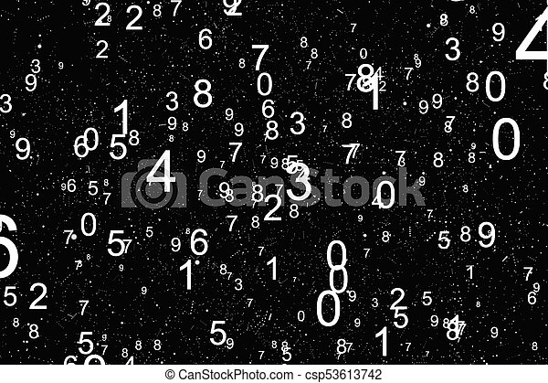 Abstract Math Number Background