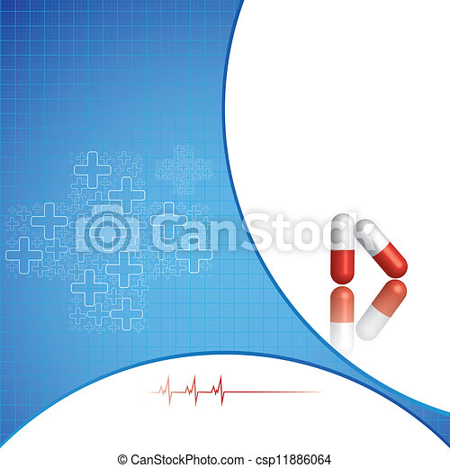 Abstract medical background - csp11886064